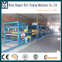 Two Profile Panels Roof Sheet Double Layer Composite Decking Machine For Roof Sheet And Wall Panel