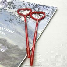 plastic valentine heart shape promotional gift pen