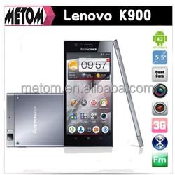 Original Lenovo K900 MTK6589 Quad Core mobile phone 5.5'' IPS QHD Screen