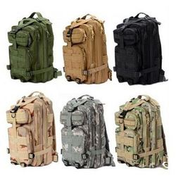 2015 Hot Sale Men Women Outdoor Military Army Tactical Canvas Backpack Camping Hiking Trekking Sport Camouflage Backpack
