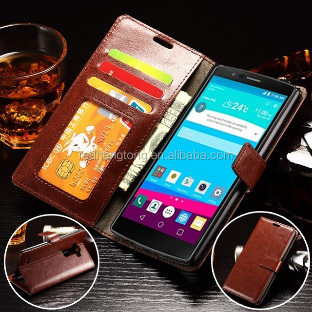 Wholesale cell phone case cover mobile phone leather case for LG G4 ...