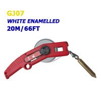 20m/66ft white enamel oil measuring tape
