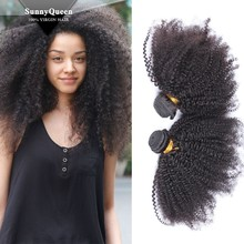Sunny Queen Hair 6A wholesale unprocessed Mongolian kinky curly hair extensions mongolian human hair weaving