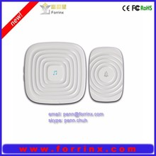 FORRINX CE/FCC/ROHS approval AC 110~220V audio wireless doorbell 52 songs digital doorbell