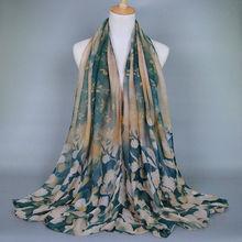 Leaf Printed Scarf Shawls Scarves women fashion Wrap Muslim180*90 Pashimina