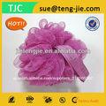Clásico& moda púrpura romántico color esponja exfoliante corporal pelota de espuma para el baño