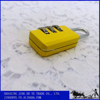 Colorful 3 Dial Metal Combination Padlock For Luggage