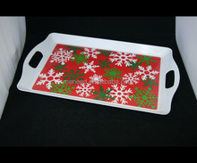 Christmas Party Ware Melamine Food Serving Trays holiday dinnerware