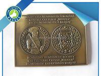 Custom zinc alloy antique gold religious challenge coin