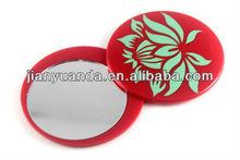 Round plastic pocket mriror mini handbag mirror with sliding cover