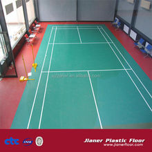 Professional indoor PVC plastic badminton court floor