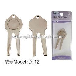 Cheap metal golf divot repair tool/pitch fork wholesale D112