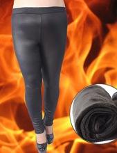 Aidefeijia Leather Leggings wholesale fertilizer to increase XXXL fat MM autumn and winter plus velvet leggings leather pants, b