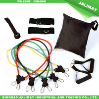 Thigh latex resistance band training exercises