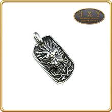 Gros HXY en acier inoxydable de naissance anneau pendentif