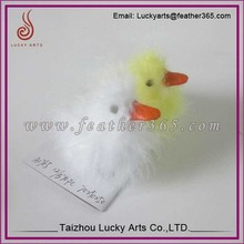Taizhou Lucky Arts small yellow and white feather duck for decoration