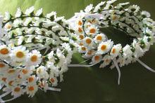 Venta directa de fabrica de la cabeza llevaba una corona de flores en la simulación de la cabeza de la novia llevaba una corona