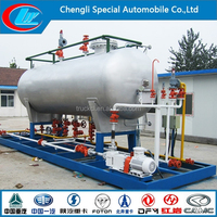 Nigeria 50m3 lpg gas plant 50000liter lpg skid station 25metric tons lpg filling station