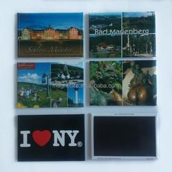tin metal fridge magnets for souvenir tourist