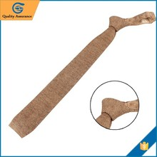 Latest designs Knitted Brown solid custom kids tie