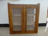 simple paulownia wood kitchen bowl and dishes storage cabinet 51.5x29.5x54.5cm