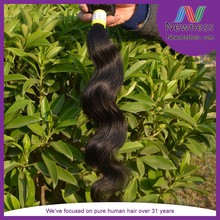 Cheap 100% virgin human hair body wave double drawn no shed and no tangle