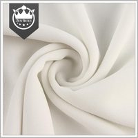 Factory price Soft handle 75D smooth white polyester chiffon