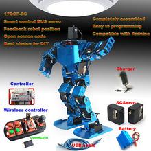 17DOF robot umanoide programmabile robot fai da te kit didattico