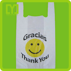 Super quality customized printing cheap t shirt plastic bags wholesale