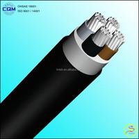 IEC 60502-1 0.6/1KV 400mm2 4 Cores Al / XLPE / PVC Electrical Power Cable
