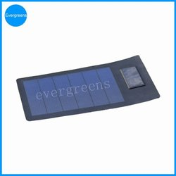 3W 5V amorphous solar panel for solar power charger bag with 2000mAh battery