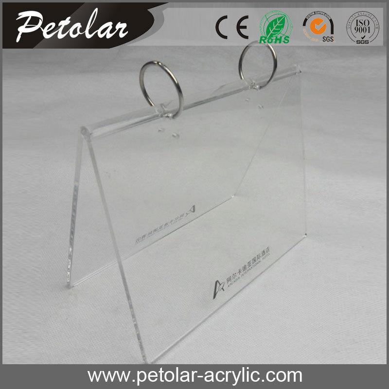 Cheap Clear Metal Ring Table Calendar Frame Calendar