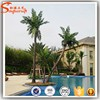 Make outdoor fake palm tree plants artificial tree coconut tree for wholesale