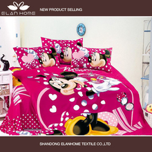 100% cotton pink color print Mickey Minnie Mouse wholesale girls kids quilts