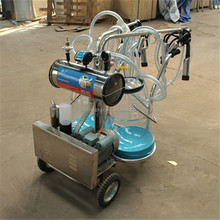 Double Goat Milking Machine Price With Measuring Buckets