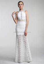 women elegant white lace evening dress 2015 mermaid bodycon bandage dress for party/wedding