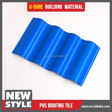 good cold resistance fiberglass pvc plastic spanish roofing tiles edging