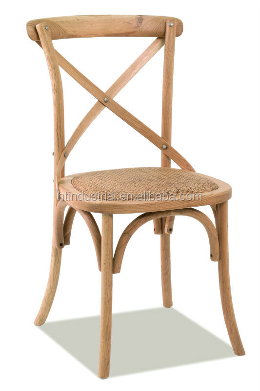 crossback chair with rattan seat, X Back Chair/low price dining chairs,fast restaurant chair and table