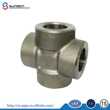 Forged High Pressure Pipe Fittings Socket Weld Straight Cross