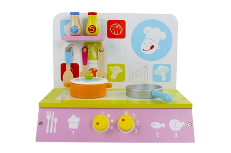 los nios al por mayor de madera mini cocina de juguete juegos de rol beb