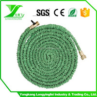 Stretch Garden Water Hose ,High Quality rubber water hose with brass fitting