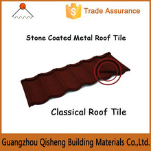 Easy installation and low cost /Stone coated metal roof tile in Guangzhou/CE Certification and ISO9001