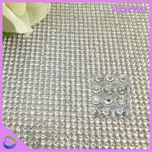 2mm 3mm decorative sew on aluminum crystal mesh for bag accessories