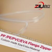 PVC Plastic Press To Close Reclosable Flange Zipper for Standard Zipper Pouch