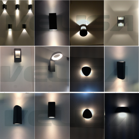 Ip54 aluminum waterproof narrow beamwith ledlink lens outdoor wall led wall lamp outdoor up andg mozeypictures Gallery