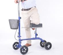 Leisure folding knee walker with frame knock-down