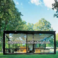 clear float tempered glass for sunroom