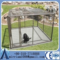 Outdoor Iron Fence Dog Kennel/Dog Run Panel/Dog Kennel Fence(Factory)