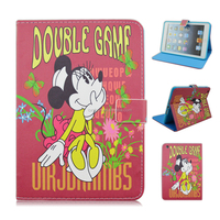 Cartoon Mickey Minnie Cute Kids Flip Leather Case Cover for Apple iPad 2/3/4