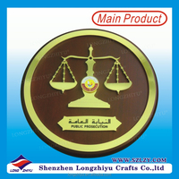 Custom Round Metal Scroll Wooden Wall Plaques 2015